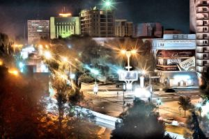 Donetsk at night by daily-telegraph