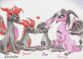 Dacon's and Zoe's family by IcelectricSpyro