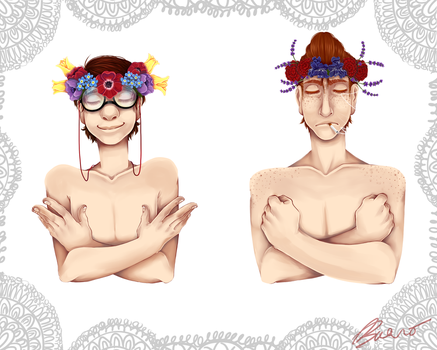 These Flower Crowns by Psylla