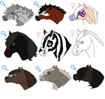 .+Horse Adoptions ONE LEFT+. by KesiLegend