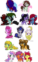 a group of stuff by ponymonster