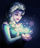 Queen Elsa from Frozen by xxcheukxx