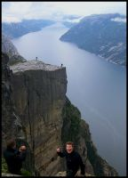 Preikestolen Rock, Norway 2008 by PretendtoBelieve