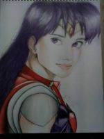 Sailor Mars Portrait Drawing by GluumeeArtz