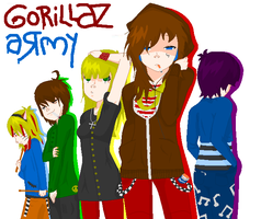 GoRiLLaZ aRmY by NinjaPrincess1000
