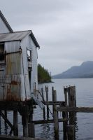 Alaskan Cannery Ruins by Stock-by-Kai