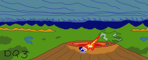 Dragon Quest III- Battle between Ortega and Dragon by VideoWizard2006