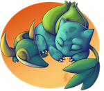 Pokemon - Bulbasaur and Snivy by ZaidaCrescent