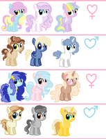 Adoptables Filly/Colts CLOSED by SugarMoonPonyArtist