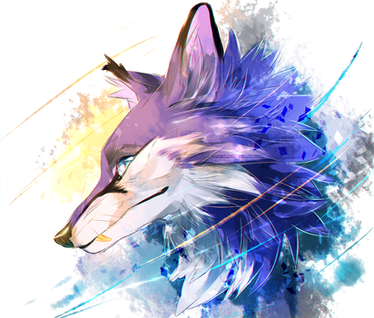 Blue foxes because I'm drugged yay by dNiseb