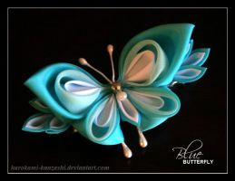 Blue Butterfly by Kurokami-Kanzashi