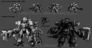 Bot Designs and Game Sprites by alt-L