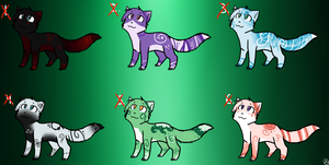 Birthstone Cat Adoptables *First Set* :CLOSED: by MistDapple