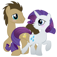 Doctor Whooves + Rarity by Eumy