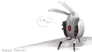Portal 2 : The Easter Turret by scriptKittie