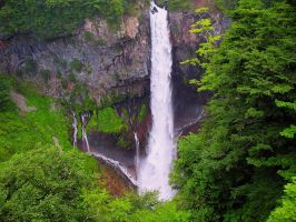 Waterfall in Japan by MkCream