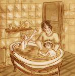 DH: Bath time at the Potters by Lumosita