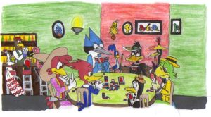 Poker Birds by KessieLou