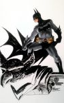 Batman on gargoyle.  by ickhwano