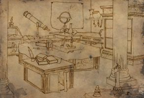 Concept Drawing of Lab by squiffythewombat