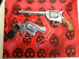 Guns and Rosary Beads by 12KathyLees12
