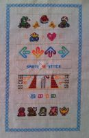 Sprite Stitch Band Sampler (1) by Blackmageheart