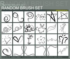 Random Brush Set by AMissGuidedStar