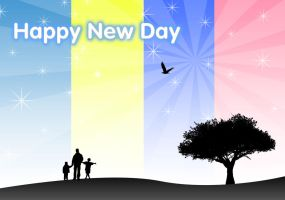Happy New Day Wallpaper by tayzar44