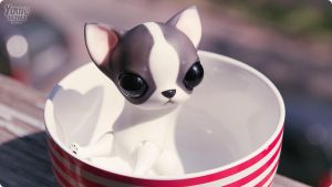 Yume in bowl by anna-lumbricus