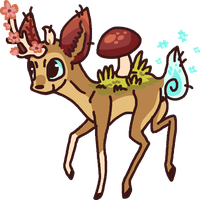 Deer Design for Auction [closed] by Shroommu