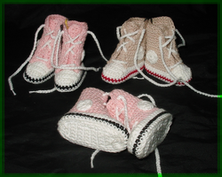 Crochet Shoes Magnets by W0IfDreamer