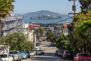 Alcatraz from Russian Hill by TomGreenPhotos