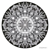 Mandala drawing 32 by Mandala-Jim