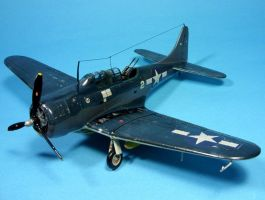 1:72 SBD-5 Dauntless I by Zero-Cannard