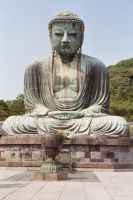 Buddha of Kotokuin Temple by silentsketcher