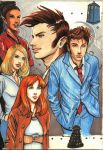 doctor who: tenth doctor with friends by DameEleusys