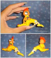 Pokemon - Scraggy and Scrafty Sculpture - Handmade