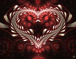 Heart and Ribbons by Brigitte-Fredensborg
