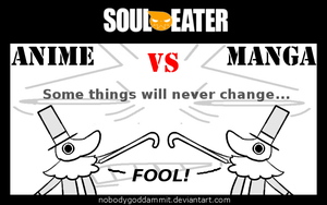 Soul Eater Anime vs. Manga : Excalibur by nobodygoddammit