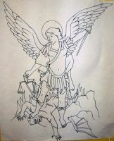 Saint Michael and The Devil 02 by ppunker
