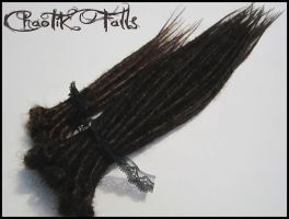 Chaotik Falls Brown Mix Synthetic Dread by ChaotikFalls