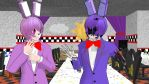 [MMD] Bunnies being bunnies by CremePuffMarshmallow