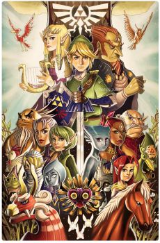 Tribute to the Legend of Zelda by chrissie-zullo