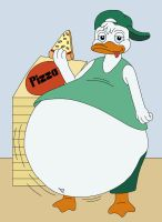 Louie eat too many pizzas by MCsaurus