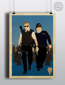 Hot Fuzz Cornetto Trilogy Posteritty Poster by Posteritty