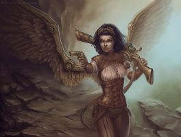 Steampunk angel by sashulka
