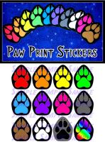 Paw Print Stickers by AirRaiser
