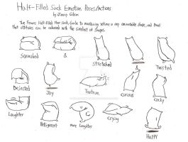 Half-Filled Sack Emotions Study Sheet by CelmationPrince