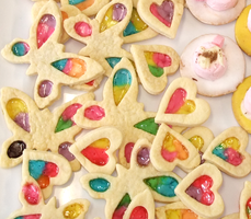 Closeup Stained Glass WIndow Cookies by KittenKiss