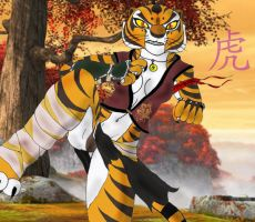 Master Tigress Sparing by K-o-v-u